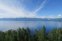 Premières vues du lac Baïkal