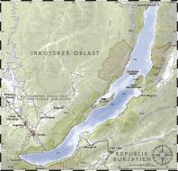 Carte du lac Baïkal, par Sansculotte