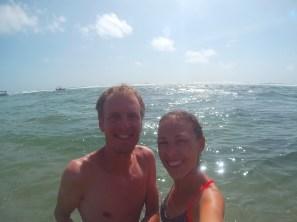 Selfie dans l'eau