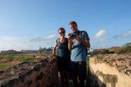 Elise et Julien sur les remparts de Galle