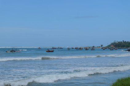 Bateaux de pêche, sur la route vers Galle