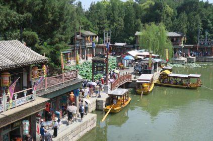 Palais d'été - vue sur la rue Suzhou