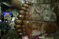 Les pieds d'un buddha couché