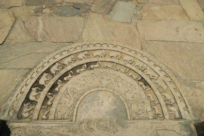Sculpture en bas de l'escalier du Vatadage, Polonnaruwa
