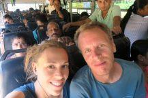Selfie dans le bus