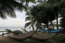 Bateaux sur la plage