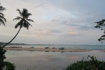 Vue sur la plage de Tangalle