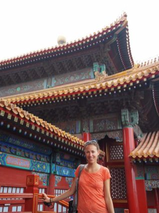 Portrait devant les toits de la cité interdite