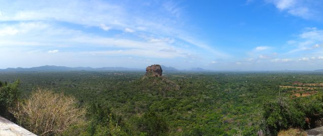Sigiriya vue panoramique