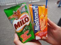 Deux boissons du matin, le Milo est notre préférée !