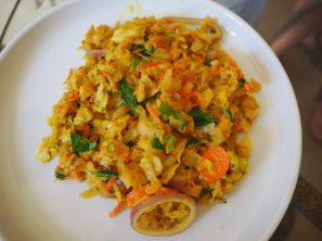 Kottu rotti au fromage et légumes