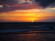 Coucher de soleil, depuis le fort de Galle