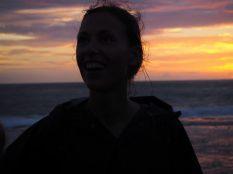 Elise lors du coucher de soleil