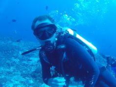 Julien sous l'eau