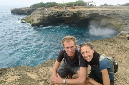 Elise et Julien posent devant le Devil's tear