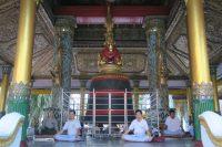 Cloche dans l'enceinte de la pagode Shwedogan