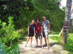 L'équipe au complet aux rizières de Tegalalang