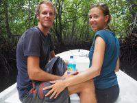 Elise et Julien dans la mangrove