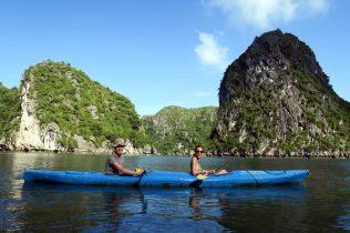 Kayak dans la baie