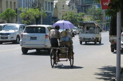 Vélo taxi à Mandalay