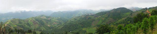 Panorama sur les collines du coté de Kalaw