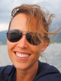 Elise dans le bateau