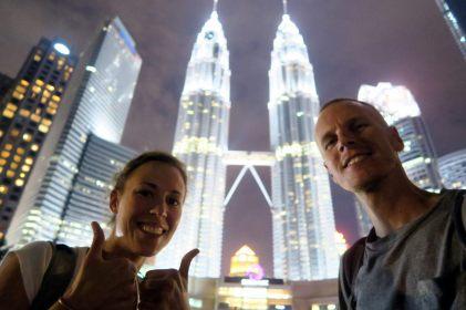 Selfie devant les tours Petronas