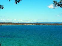 Vue sur l'océan depuis le parc de Noosa