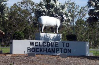 Statue à l'entrée de Rockhampton