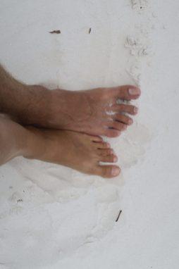 Sur le sable blanc de Whitehaven beach