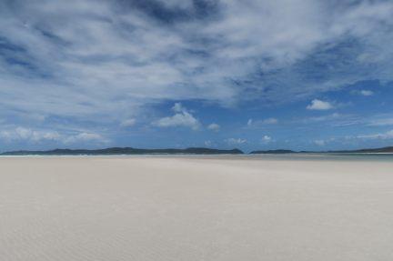 L'étendue de sable blanc