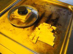 Au menu, croque monsieur et Halloumi cuits au BBQ électrique ! miam !