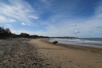Sur la plage. Le scooter des mers appartient aux maitres nageurs qui surveillent la baignade