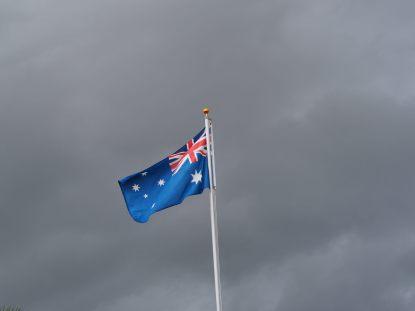 Le drapeau qui fut le lieu du drame : c'est ici qu'a été perdue (puis retrouvée) la carte de crédit !