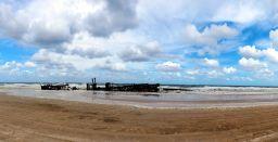 Panorama de l'épave du SS Maheno