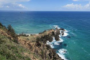 Le cap Byron et la petite plage de Wittegos à gauche