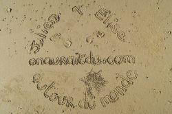 Notre sceau sur la plage ;)