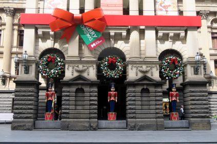 Décorations de Noël à Melbourne