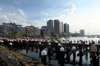 Aux docks à Melbourne