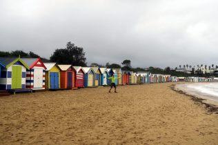 Brighton Beach et ses cabines colorées