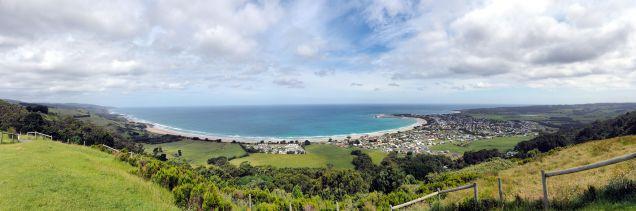 Panorama de Apollo Bay, le Marriners lookout