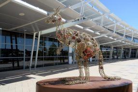 Décoration de Noël à l'aéroport de Perth