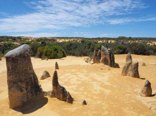 Rochers de formes variées au désert des pinnacles