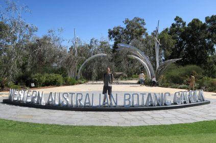 Julien aux jardins botaniques de Perth