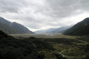 La vallée de la Tasman River