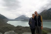 Portrait devant le glacier Tasman