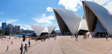 Panorama depuis l'esplanade de l'opéra de Sydney