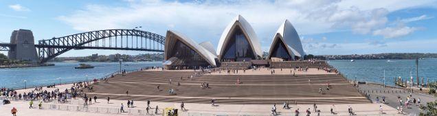 Panorama de l'esplanade de l'opéra de Sydney
