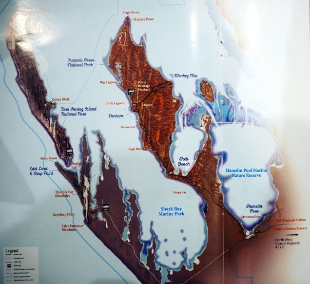 Carte de Shark Bay