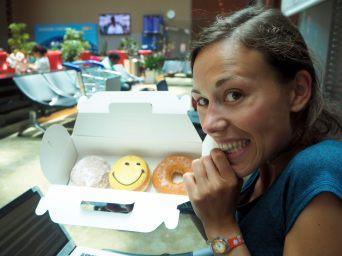La joie de trouver des patisseries (donuts) à Kuala Lumpur, après 3 mois en Asie